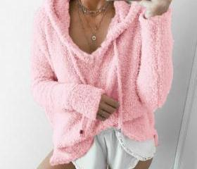 Women Fluffy Mohair ..