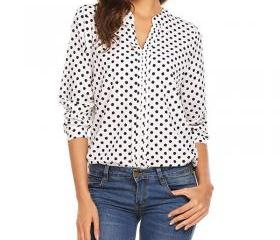 Women Polka Dot Blou..