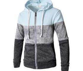 Men Hoodies Patchwor..