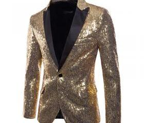 Men Sequined Blazer ..