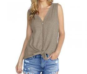 Women Knitted Vest V..