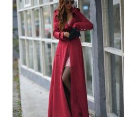 Floor Length Red Coa..