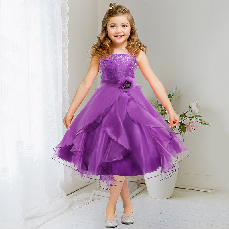 Kids Girls Clothes Sleeveless Prom Flower Girl Dress Princess ...