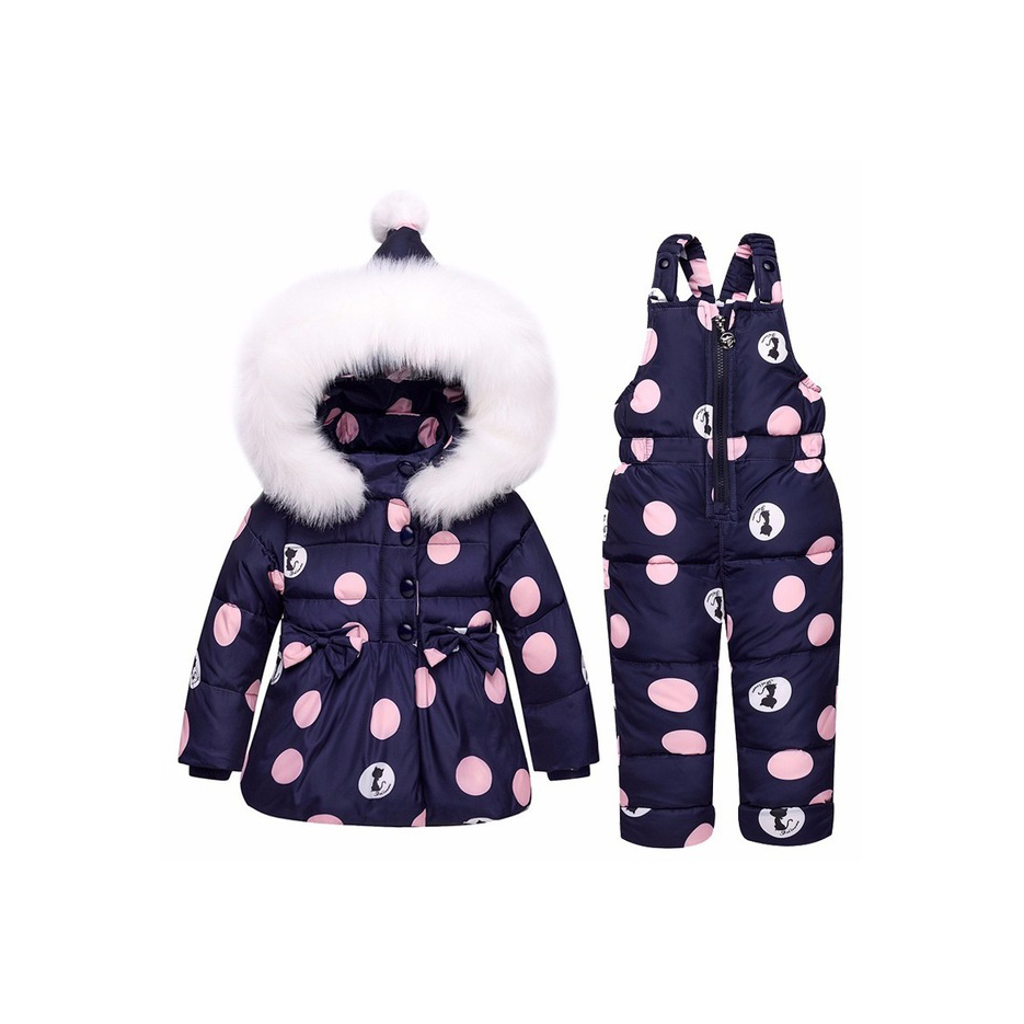 8c07ee32b Winter Children Clothing Sets Girls Warm Parka Down Jacket Baby Coat ...