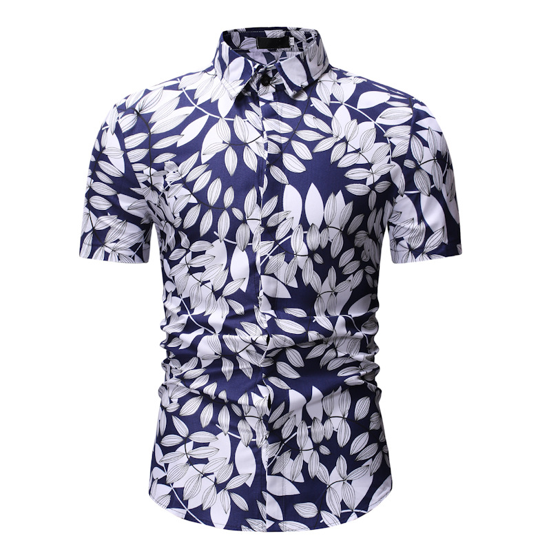 522bd753136 Men Floral Printed Shirt Summer Beach Short Sleeve Hawaiian Holiday  Vacation Casual Slim Fit Shirt 18
