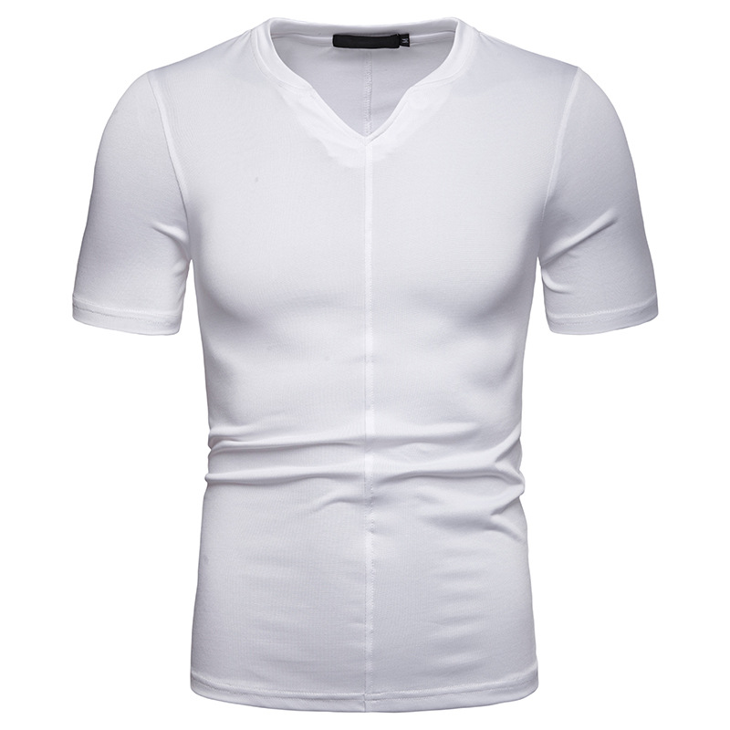 Fashion short Sleeve V-Neck T Shirt Summe men New Loose Casual Top
