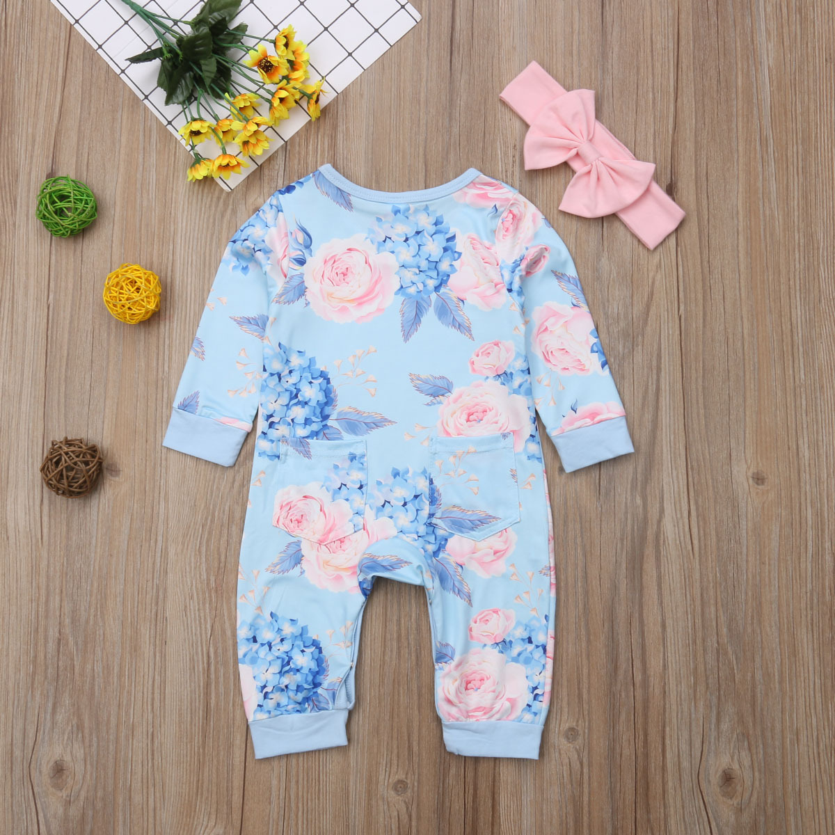 Infant Baby Girls Rompers Sleeveless Cotton Jumpsuit,Lipstick in The Blossoms Outfit Summer Pajamas