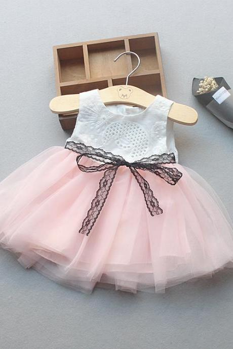 Flower Girl Princess Dress Tutu Infant Baby Kids Clothing Summer Toddler Children Clothes pink