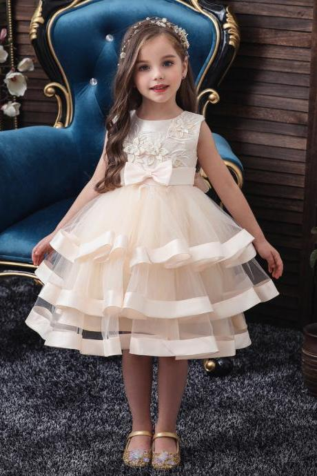 Girls flower dress birthday party princess European and American fluffy Halloween TUTU wedding Clothing