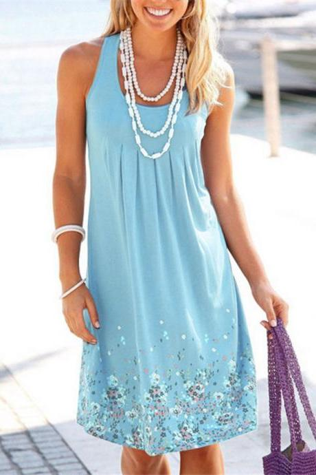 Women Summer Boho Short mini Dress Cocktail Evening Party Dresses Beach Sundress