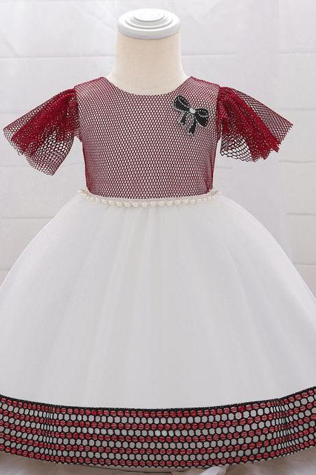 Summer Infant Baby Girl Princess Dress Baptism Dresses Newborn Girls 1st Year Birthday Party Wedding Dress Baby Clothes
