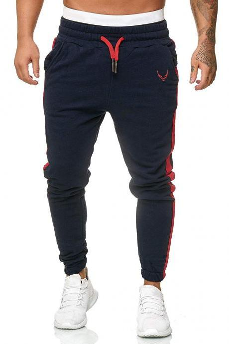 New Products Men Spring Autumn New Style Large Size Fashion Korean-style Casual Embroidered Sports Long Pants