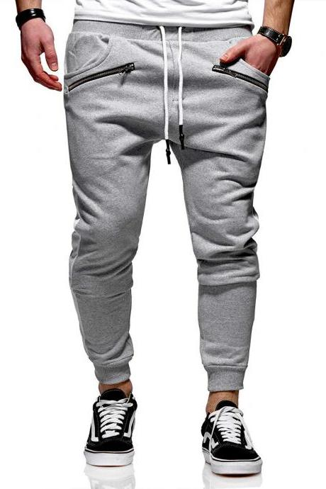 Men Spring Autumn New Pants Style Foreign Trade Large Size Wear Style Fashion-Casual Sports Joint Trouser