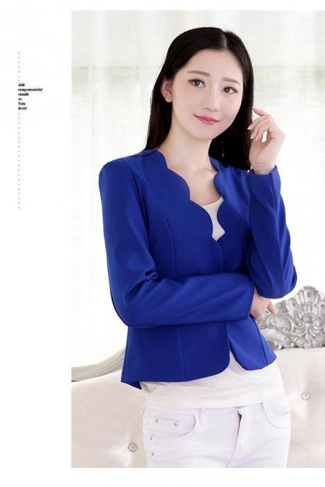 New Fashion Women Slim Blazer Coat Casual Jacket Long Sleeve One Button Suit