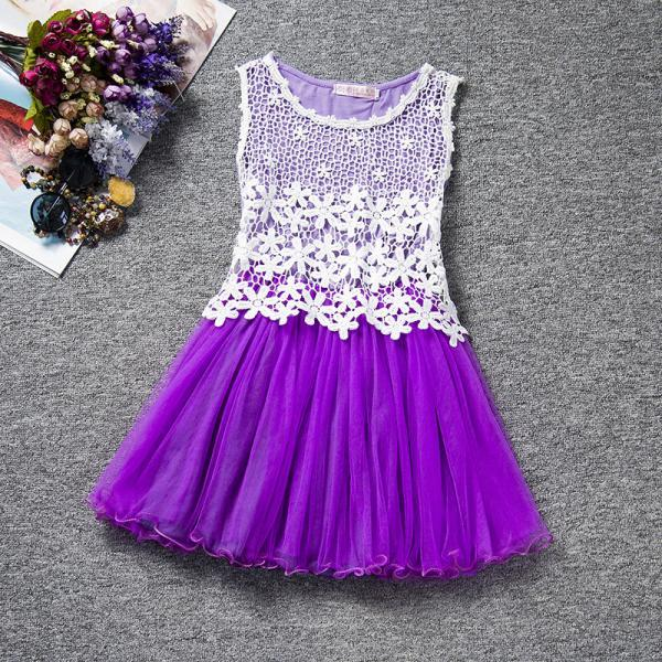 Summer Baby Flower Lace Dress High Quality Princess Girl Dress Kids Children Clothes Tutu Photo Prop