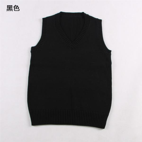 Japanese School Student JK Uniform Vest Girls Sleeveless V-Neck Sailor Knited Sweater Anime Love Live K-on Cosplay black