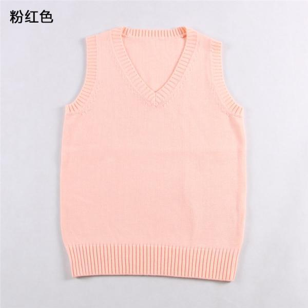 Japanese School Student JK Uniform Vest Girls Sleeveless V-Neck Sailor Knited Sweater Anime Love Live K-on Cosplay pink