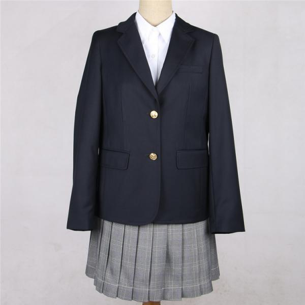 Japanese JK Women Girl School Uniform Suit Coat Students Jacket Blazer Outerwear navy blue