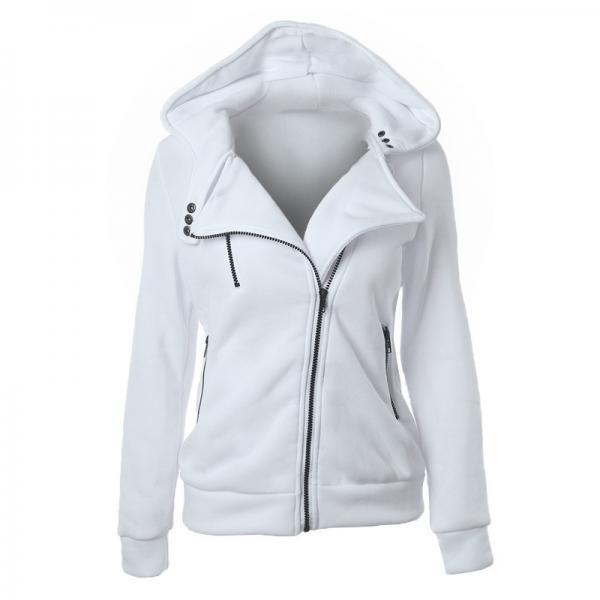 Fashion Spring Autumn Zipper Hooded Jacket Women Warm Hoodies Sweatshirts Cardigan Basic Coats Outerwear Fashion Spring Autumn Zipper Hooded Jacket Women Warm Hoodies Sweatshirts Cardigan Basic Coats Outerwear