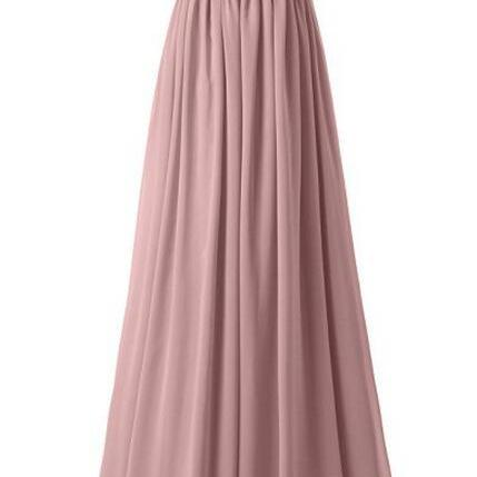 One Shoulder Ruched Bridesmaid Dresses, Dresses,A-Line Bridesmaid Long Bridesmaid Dresses, Prom dress,