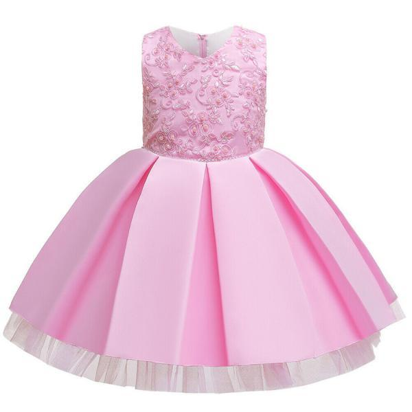 Cute Baby Kids Girl Princess Tulle Tutu Dress Wedding Birthday Party Bow Dresses pink