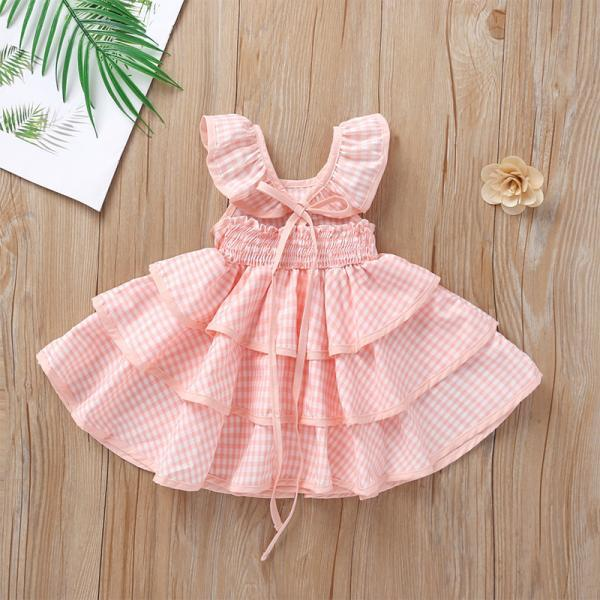 2-6Yrs Baby Fashion Lovely Layered Dress For Girls Children Cute Clothing Dress