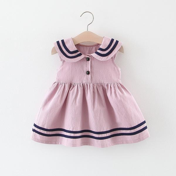 Girls summer dress fashion Korean skirt girl baby infant navy style vest dress princess skirt dress