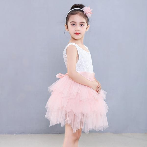 Spring Princess Girl Designed Dress Lace Tutu Wedding Birthday Party Vestidos 3-8 Years Kids Girls Formal Costume