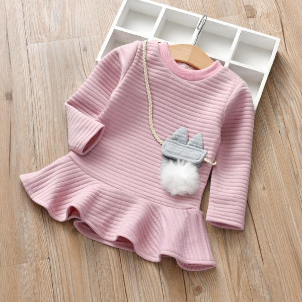 Spring new hair ball children's clothing girl dress foreign style long skirt small children's children's skirt princess skirt