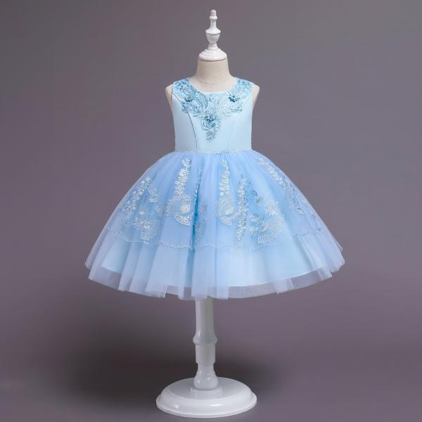 Flower Girls Dress Baby Wedding Party Dresses Children Birthday Frocks Formal Kids Ball Gowns Clothes