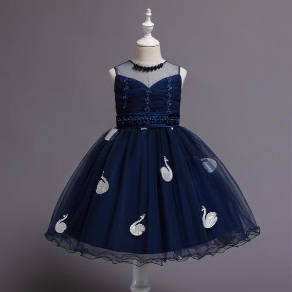 Children's dress, v-neck princess tutu skirt, school performance stage catwalk dress