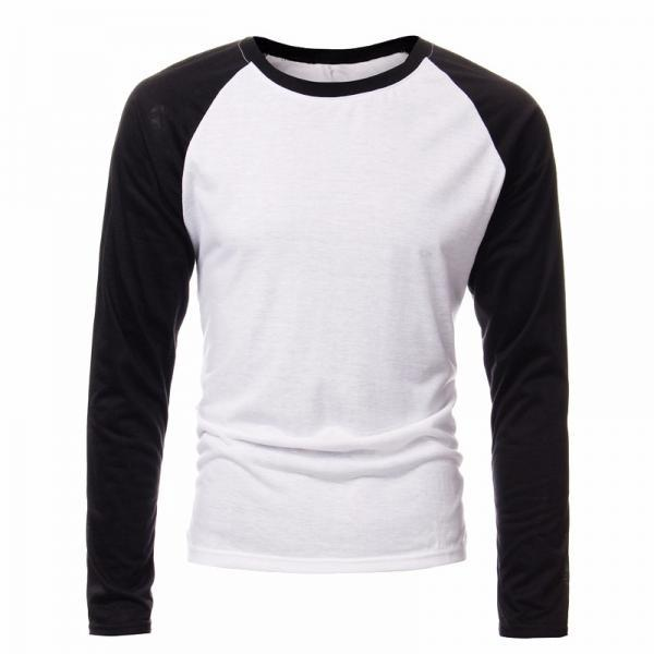 Autumn Men Long Sleeve T Shirt Patchwork O-neck Streetwear Casual Baseball Fashion Plus size Tee Tops