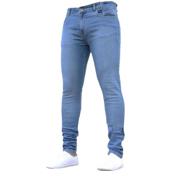 Skinny Jeans Men Pure Color Denim Pants Cotton Vintage Wash Hip Hop Work Plus Size Winter Autumn jeans Trousers