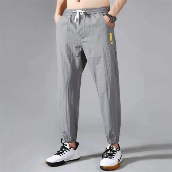 Casual Men Pants Summer 2021 New Style Fashion Outdoor Lightweight Loose Cool Jogging Sport Big Size Hommes Pants