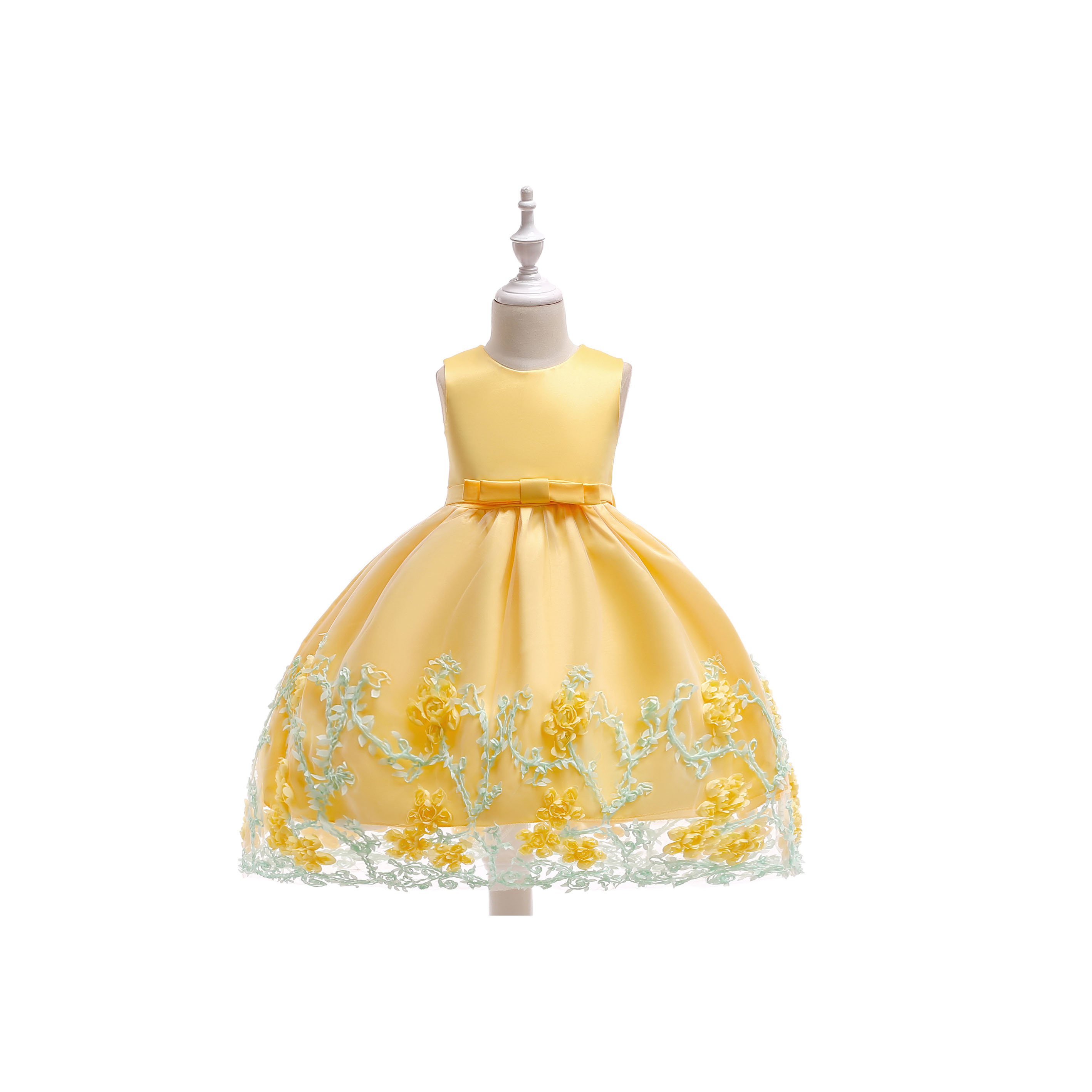 700e7b2d5 New Flower Girl Dress Birthday Prom Party Formal Tutu Gown Children Clothes  Yellow on Luulla